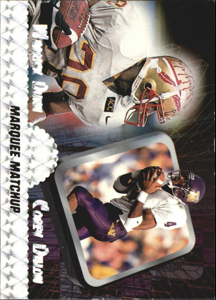 1997 Press Pass Marquee Matchups #MM2 W.Dunn/C.Dillon