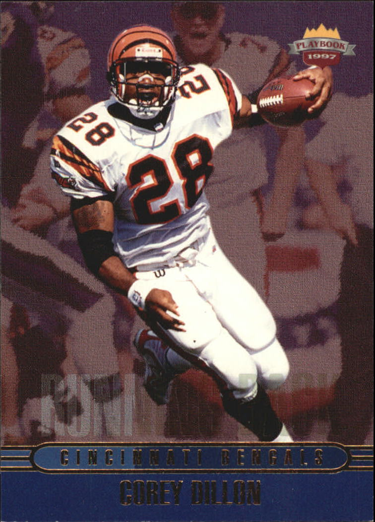 1997 Score Board Playbook #38 Corey Dillon RC
