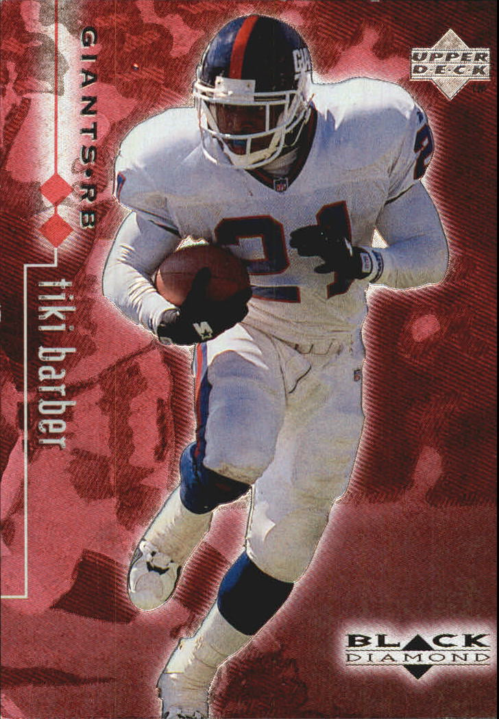 1998 Black Diamond Rookies Double #56 Tiki Barber