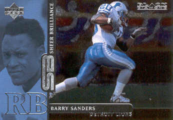 1998 Black Diamond Rookies Sheer Brilliance #B6 Barry Sanders/2000