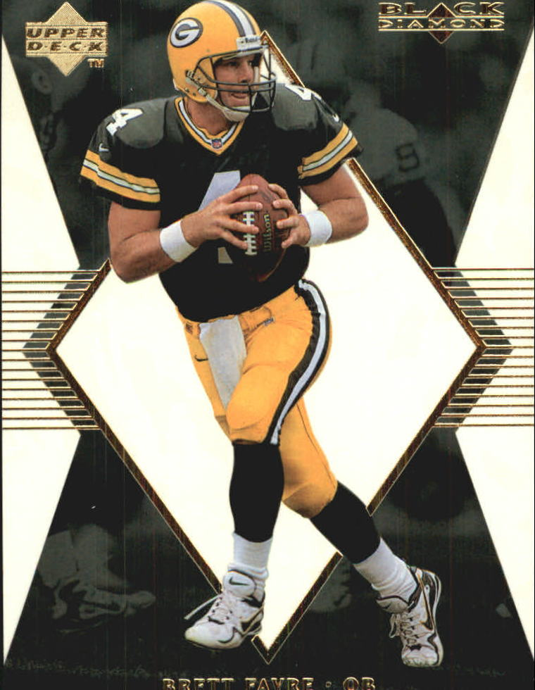 1998 Black Diamond Rookies White Onyx #ON4 Brett Favre