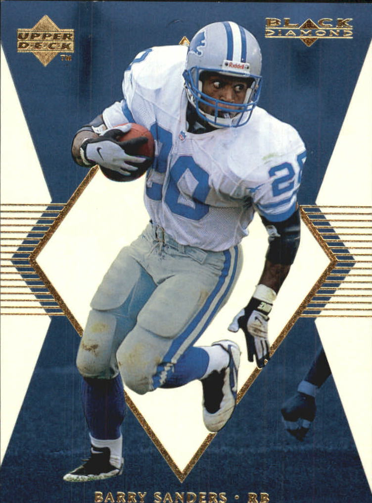 1998 Black Diamond Rookies White Onyx #ON20 Barry Sanders