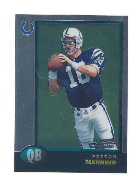 1998 Bowman Chrome Preview #BCP1 Peyton Manning
