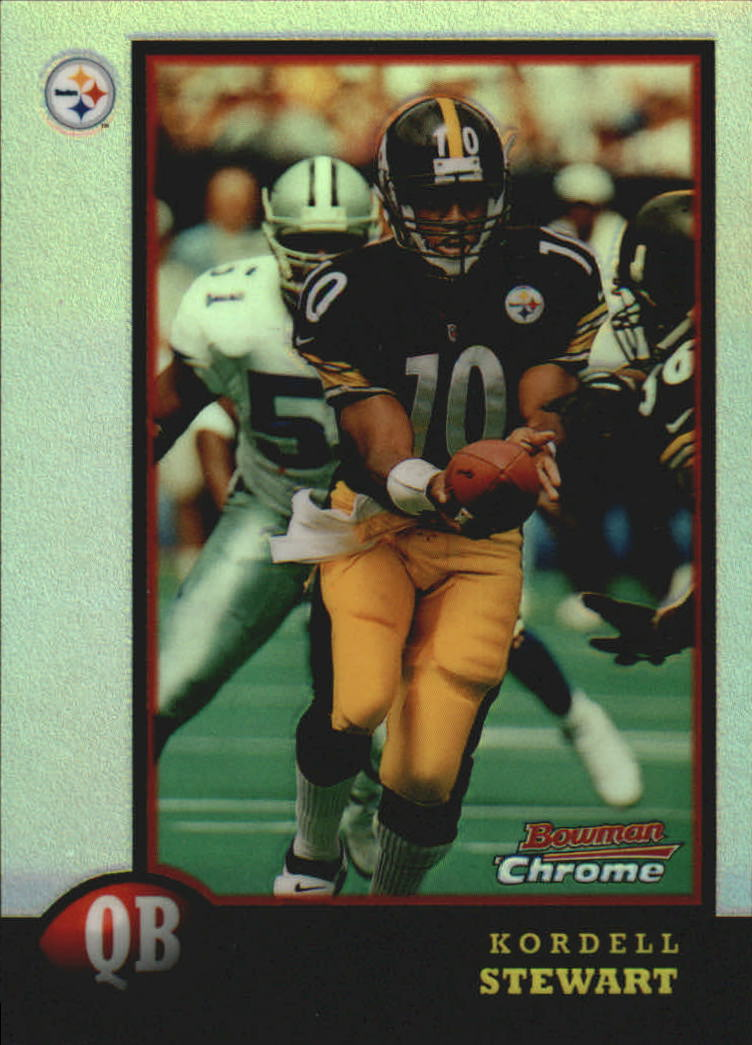 1998 Bowman Chrome Preview Refractors #BCP9 Kordell Stewart