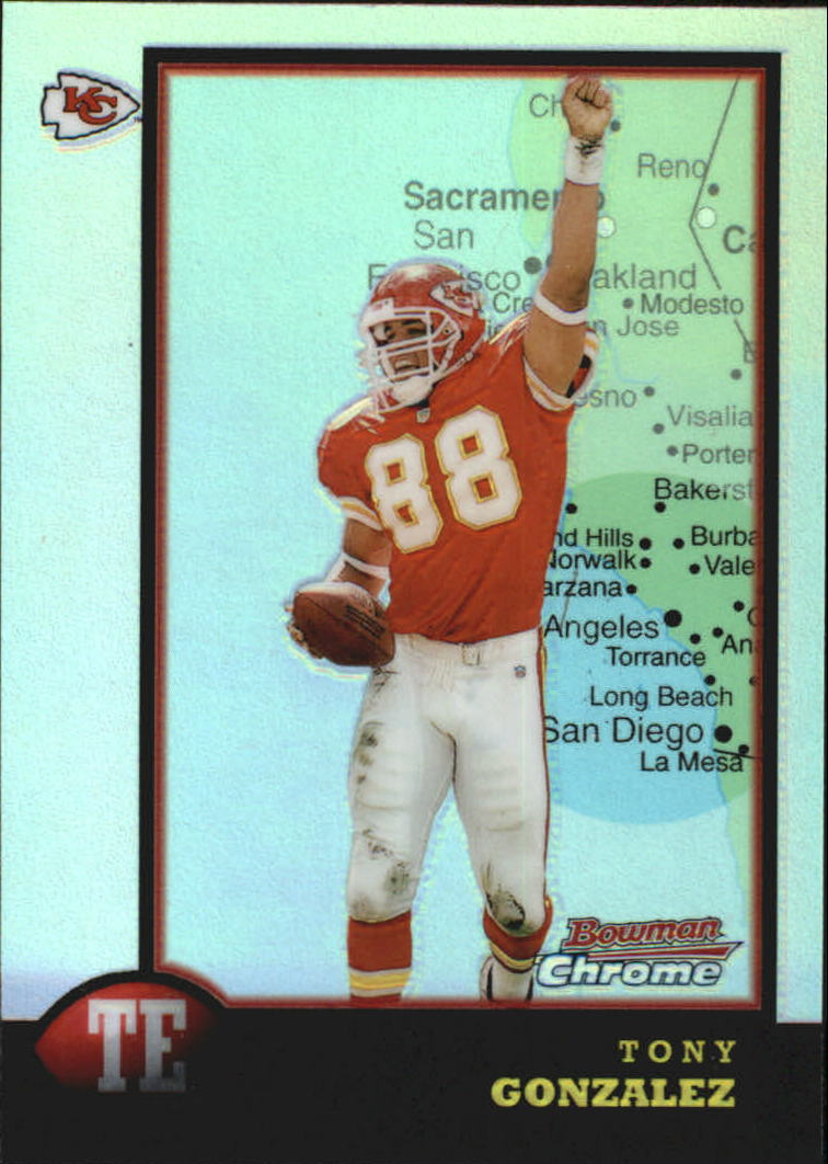 1998 Bowman Chrome Interstate #46 Tony Gonzalez