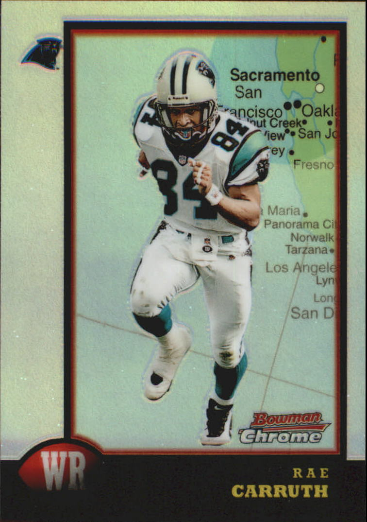 1998 Bowman Chrome Interstate #49 Rae Carruth