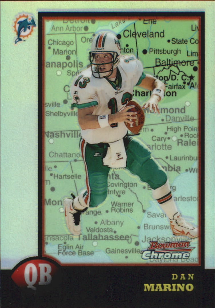 1998 Bowman Chrome Interstate #135 Dan Marino