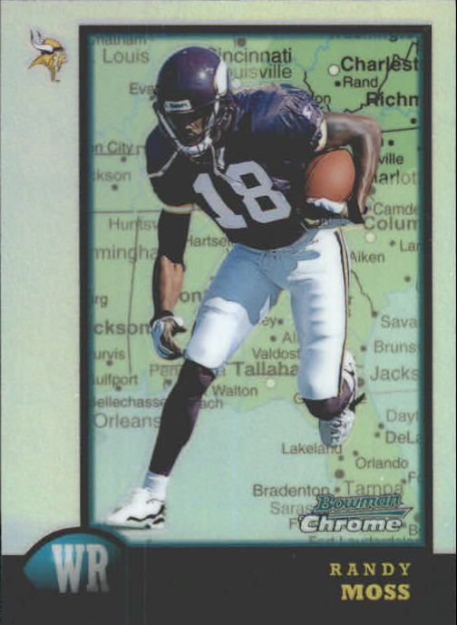 1998 Bowman Chrome Interstate Refractors #182 Randy Moss