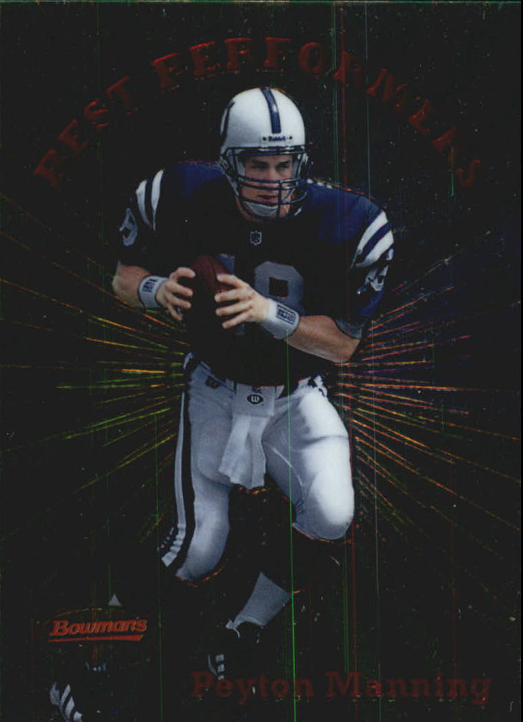 1998 Bowman's Best Performers #BP1 Peyton Manning