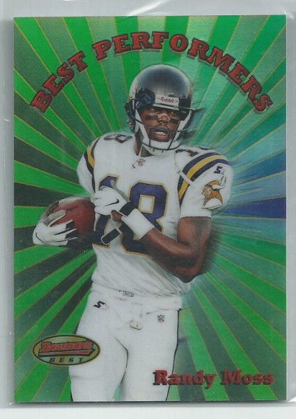 1998 Bowman's Best Performers Refractors #BP5 Randy Moss