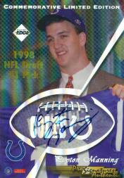 1998 Collector's Edge First Place Pro Signature Authentics #6 Peyton Manning Commemorative