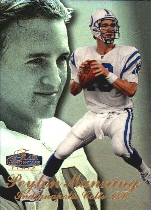 1998 Flair Showcase Row 3 #3 Peyton Manning RC