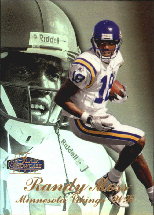 1998 Flair Showcase Row 3 #5 Randy Moss RC
