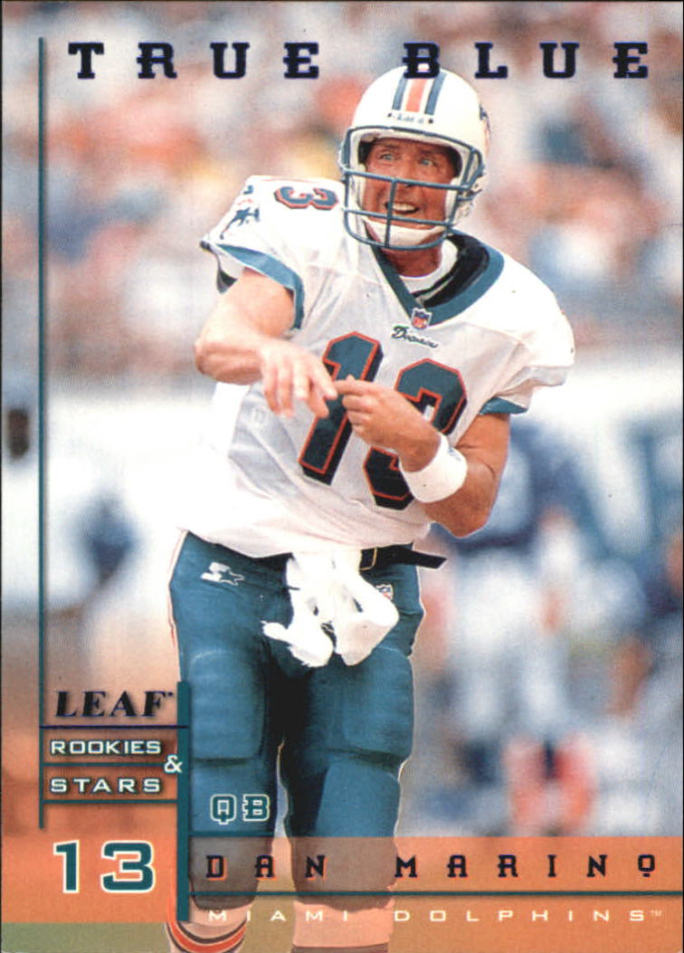 1998 Leaf Rookies and Stars True Blue #113 Dan Marino front image