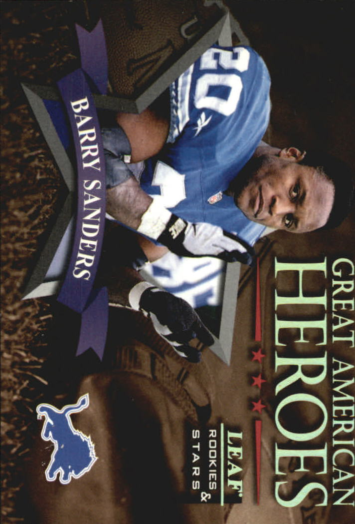 1998 Leaf Rookies and Stars Great American Heroes #4 Barry Sanders