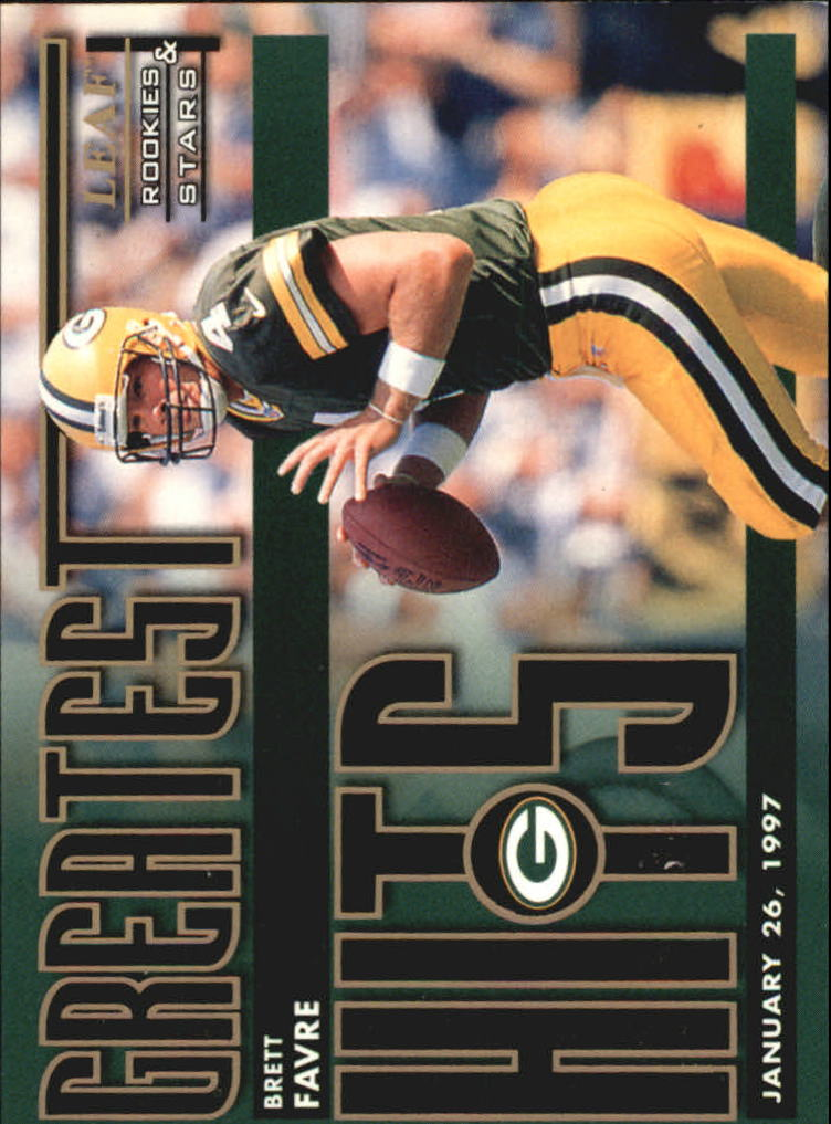 1998 Leaf Rookies and Stars Greatest Hits #1 Brett Favre