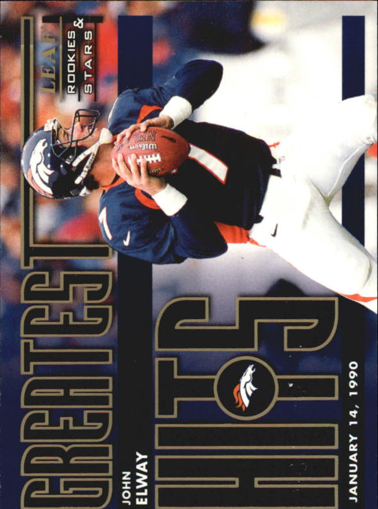 1998 Leaf Rookies and Stars Greatest Hits #3 John Elway