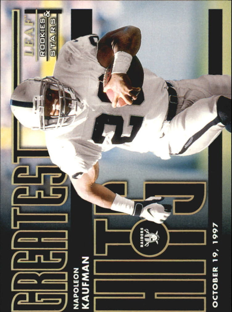 1998 Leaf Rookies and Stars Greatest Hits #5 Napoleon Kaufman