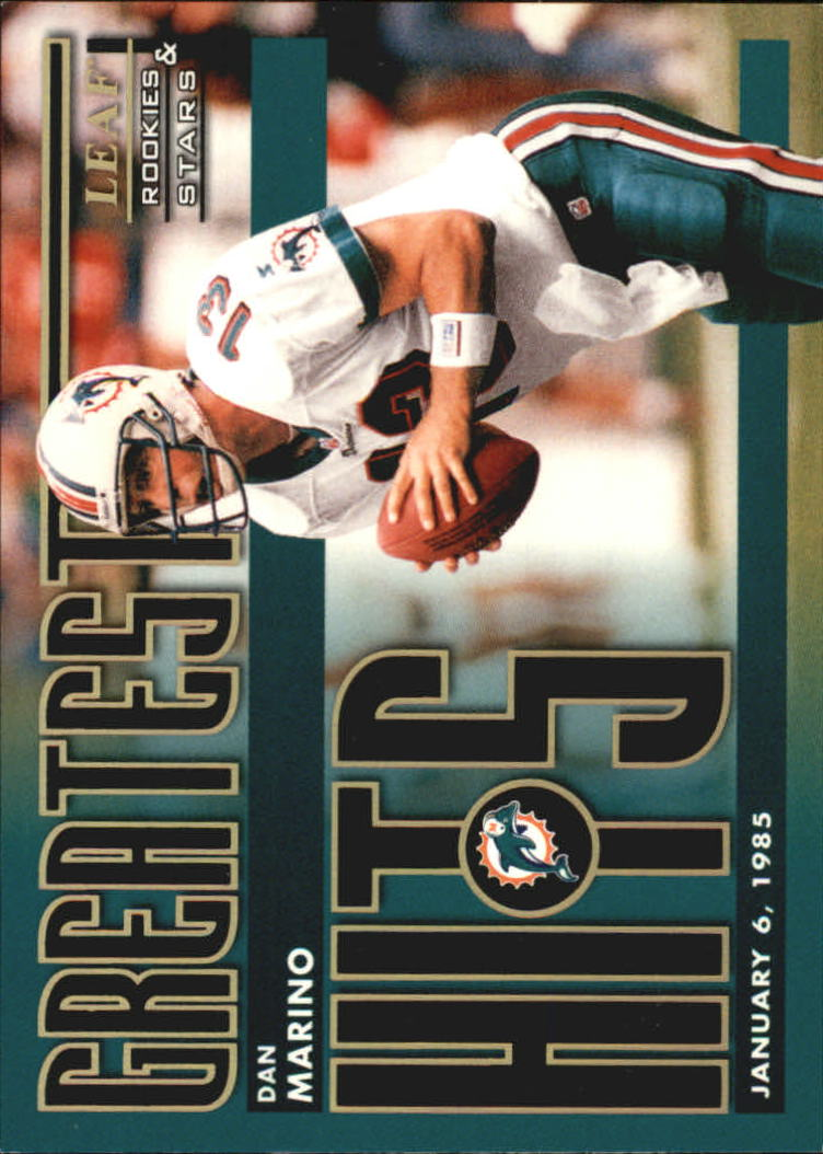 1998 Leaf Rookies and Stars Greatest Hits #6 Dan Marino