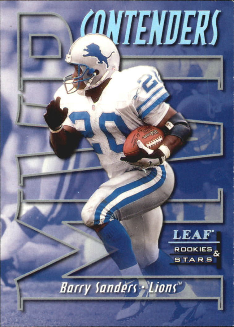 1998 Leaf Rookies and Stars MVP Contenders #17 Barry Sanders