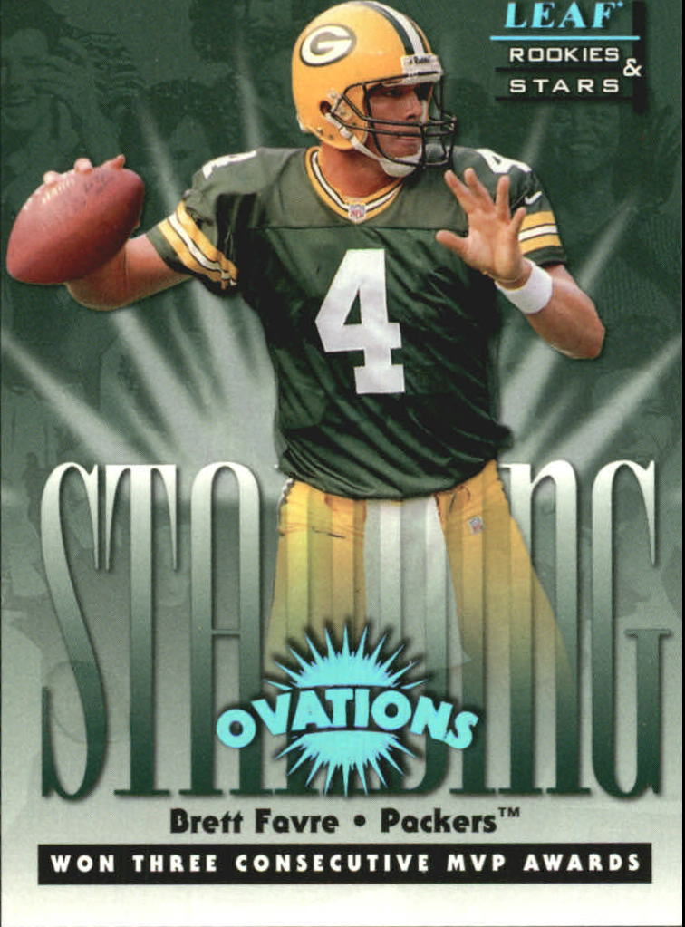 1998 Leaf Rookies and Stars Standing Ovation #1 Brett Favre