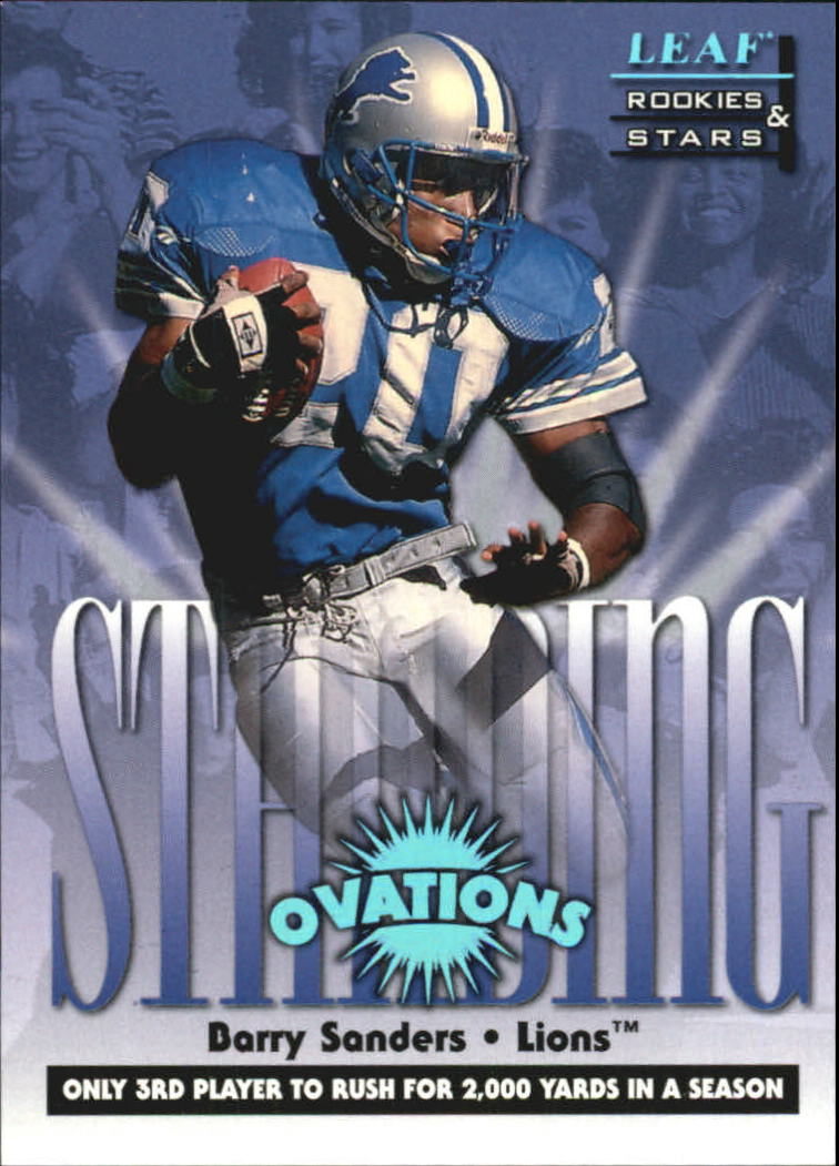 1998 Leaf Rookies and Stars Standing Ovation #4 Barry Sanders