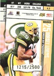 1998 Leaf Rookies and Stars Ticket Masters #1 Brett Favre/Dorsey Levens back image