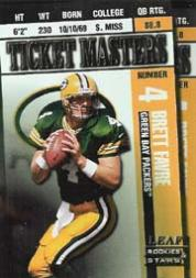 1998 Leaf Rookies and Stars Ticket Masters #1 Brett Favre/Dorsey Levens front image