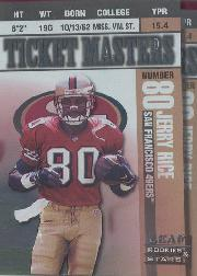 1998 Leaf Rookies and Stars Ticket Masters #8 Jerry Rice/Steve Young