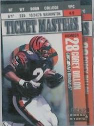 1998 Leaf Rookies and Stars Ticket Masters #12 Corey Dillon/Carl Pickens