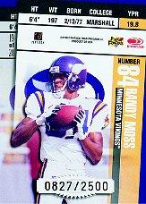 1998 Leaf Rookies and Stars Ticket Masters #19 Cris Carter/Randy Moss back image