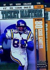 1998 Leaf Rookies and Stars Ticket Masters #19 Cris Carter/Randy Moss front image