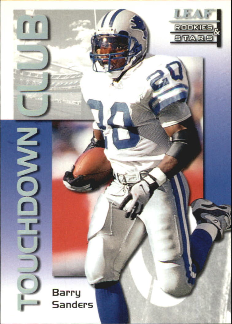 1998 Leaf Rookies and Stars Touchdown Club #4 Barry Sanders