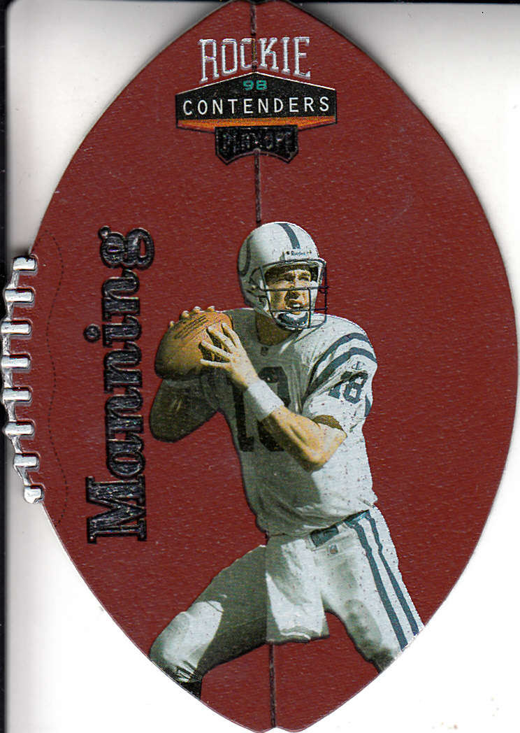 1998 Playoff Contenders Leather #37 Peyton Manning