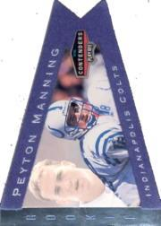 1998 Playoff Contenders Pennants Blue Felt #42 Peyton Manning