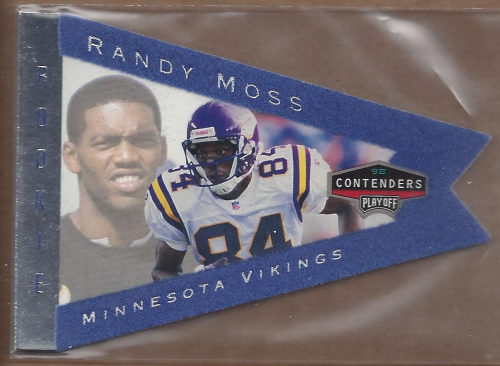1998 Playoff Contenders Pennants Blue Felt #55 Randy Moss