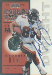 1998 Playoff Contenders Ticket #82 Tim Dwight AU/500*