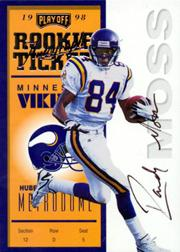 1998 Playoff Contenders Ticket #92 Randy Moss AU/300*