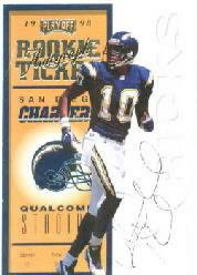 1998 Playoff Contenders Ticket #96 Mikhael Ricks AU/500*