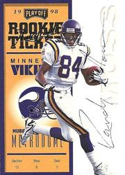 1998 Playoff Contenders Ticket Registered Exchange #92 Randy Moss AU