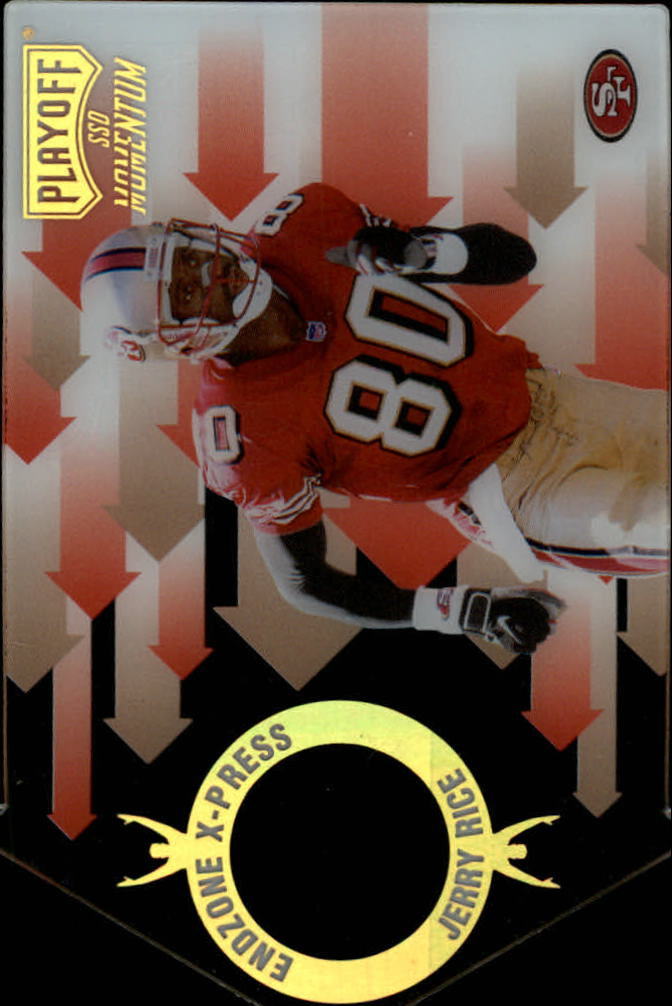 1998 Playoff Momentum Endzone X-press #25 Jerry Rice