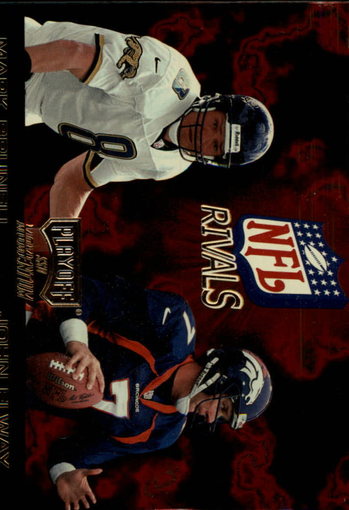 1998 Playoff Momentum NFL Rivals #1 Mark Brunell/John Elway