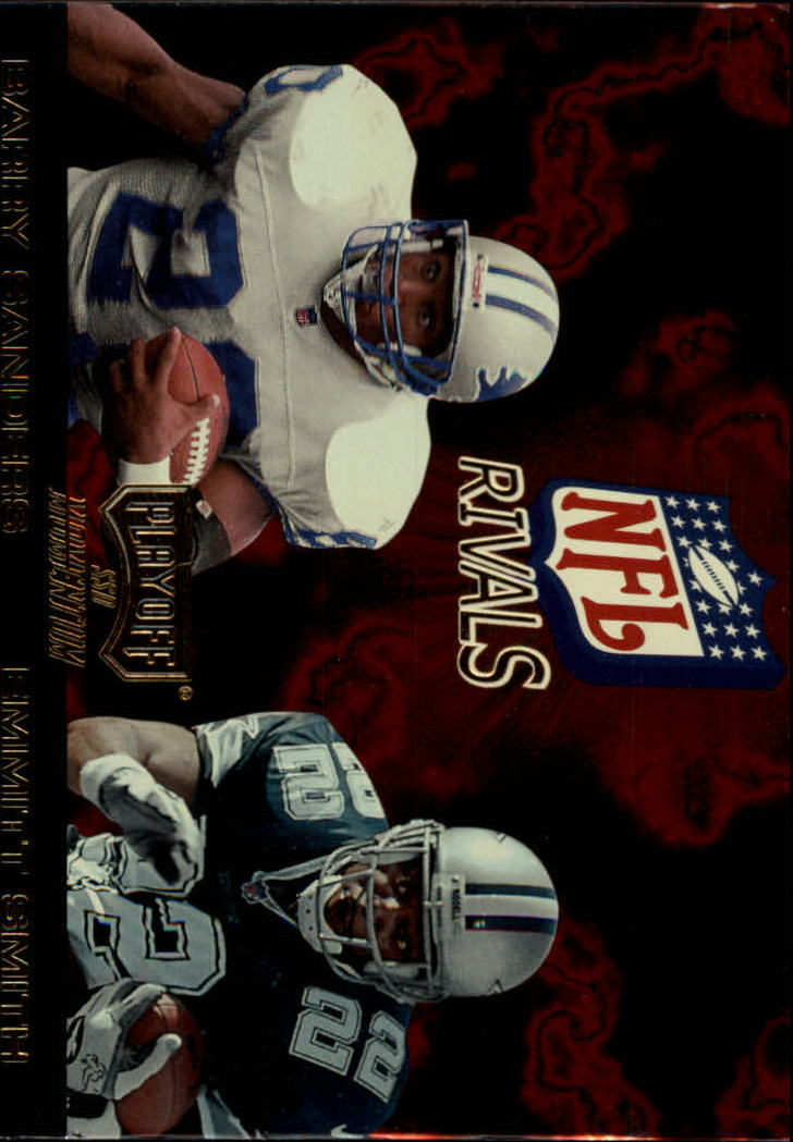 1998 Playoff Momentum NFL Rivals #3 Barry Sanders/Emmitt Smith