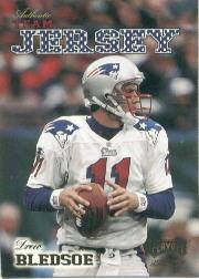 1998 Playoff Momentum Team Jerseys Away #R31 Drew Bledsoe