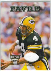 1998 Playoff Momentum Team Threads Away #4 Brett Favre