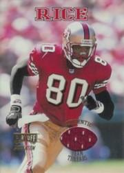 1998 Playoff Momentum Team Threads Home #1 Jerry Rice