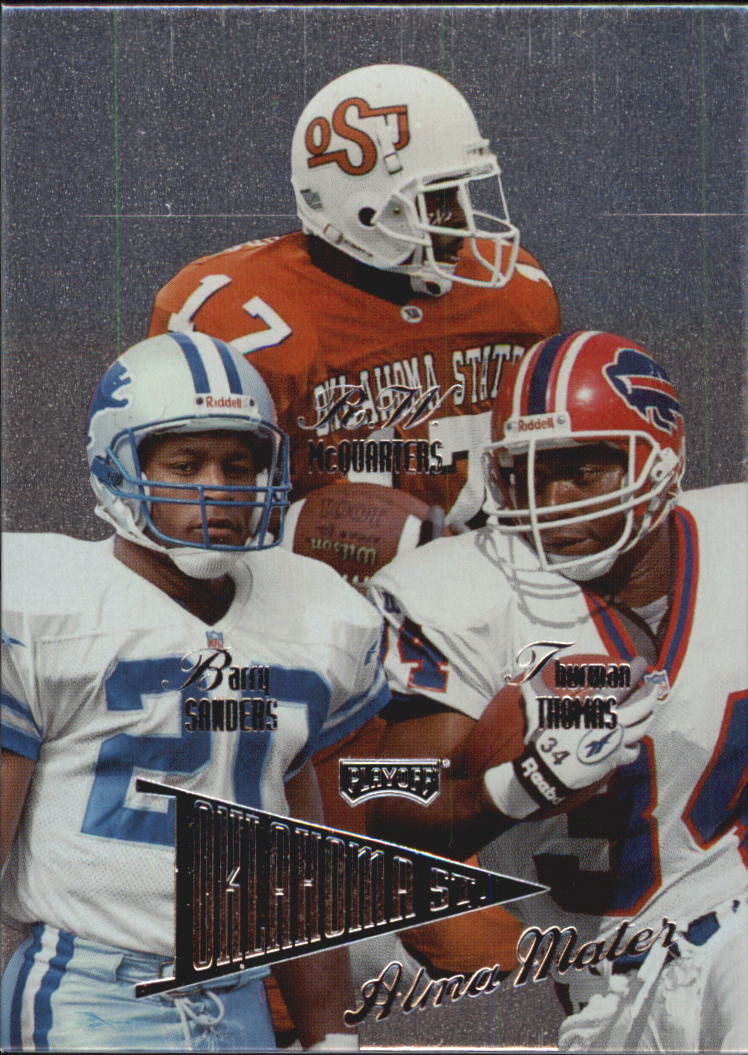 1998 Playoff Prestige Alma Maters #7 Barry Sanders/Thurman Thomas/R.W. McQuarters