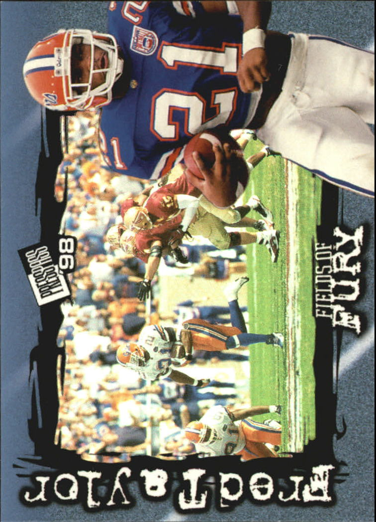 1998 Press Pass Fields of Fury #FF8 Fred Taylor