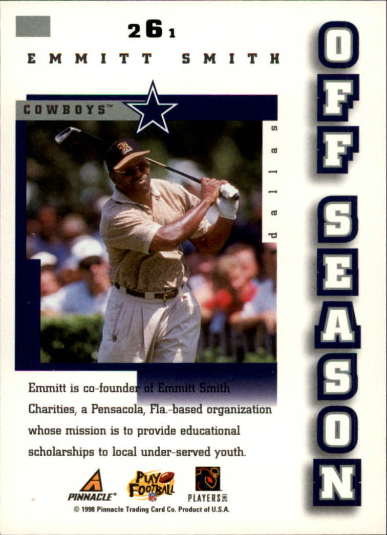 1998 Score #261 Emmitt Smith OS back image