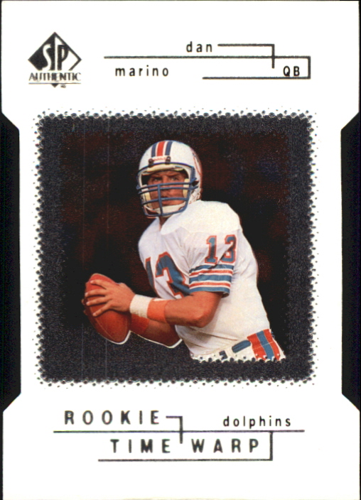 1998 SP Authentic Die Cuts #41 Dan Marino TW front image